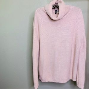 H&M DIVIDED Pink Cowl Neck Sweater